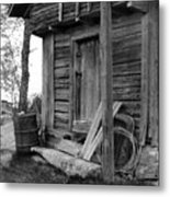 Old Log House Metal Print