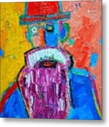 Old Man With Red Bowler Hat Metal Print