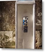 Old Phonebooth Metal Print