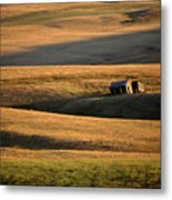 Old Ranch Buildings In Alberta Metal Print