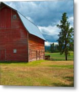 Old Red Big Sky Barn  Metal Print