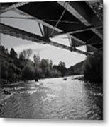 Old Rio Grande Bridge Metal Print
