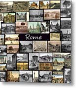 Old Rome Collage Metal Print