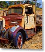 Old Rusting Flatbed Truck Metal Print