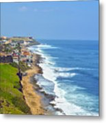 Old San Juan Coastline 3 Metal Print