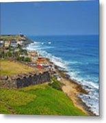 Old San Juan Coastline Metal Print