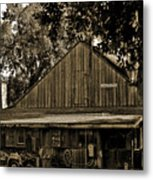 Old Spanish Sugar Mill Sepia Metal Print