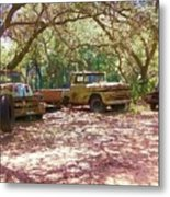 Old Time Trucks Metal Print