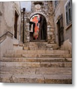 Old Town Entrance Metal Print