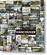 Old Vancouver Collage Metal Print