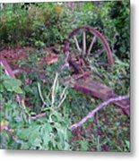 Old Wagon Wheels 2 Metal Print