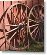 Old Wagon Wheels Metal Print
