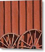 Old Wagon Wheels IIi Metal Print