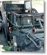 Old West Wagon Train Down Metal Print