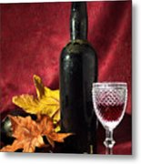 Old Wine Bottle Metal Print