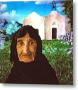 Old Woman Of Kritsa Metal Print