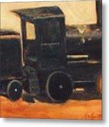 Old Wood Toy Train  Metal Print
