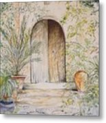 Old Wooden Door Metal Print