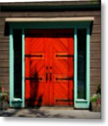 Old Wooden Doors Metal Print