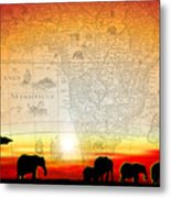 Old World Africa Warm Sunset Metal Print