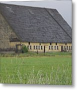 Old Yellow Barn   Washington State Metal Print
