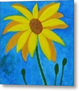 Old Yellow  Metal Print