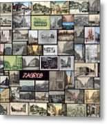 Old Zagreb Collage Metal Print by Janos Kovac