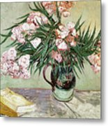 Oleanders And Books Metal Print