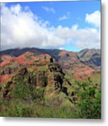 Olokele Canyon From Robinson Ranch Metal Print