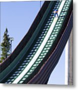 Olympic Ski Jump Training Metal Print