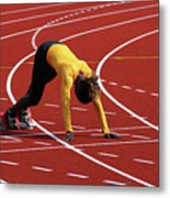 Track And Field 1 Metal Print