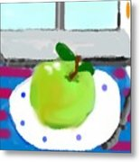 One Morning Apple Metal Print