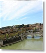 One Of Rome's Bridge Metal Print