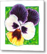 One Pansy For Marti Metal Print