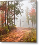 One Way Metal Print by Debra and Dave Vanderlaan