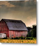 Ontario Barn In The Sun Metal Print
