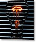 Orange Bulb Metal Print