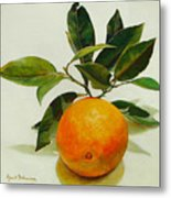 Orange Cueillie Metal Print