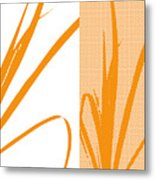 Orange Palm Metal Print