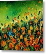 Orange Poppies 459080 Metal Print