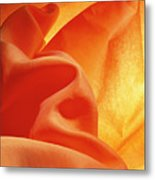 Orange Silk Metal Print