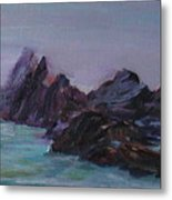 Oregon Coast Seal Rock Mist Metal Print