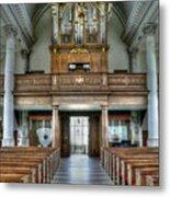 Organ At St Mary Of Aldermanbury Metal Print by David Bearden