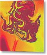 Organic Rose Metal Print