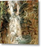 Oriental Waterfall Metal Print