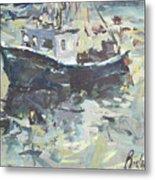 Original Lobster Boat Painting Metal Print