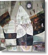 Os1957bo007 Abstract Landscape Of Potosi Bolivia 22 X 30.6 Metal Print