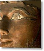 Osiris Statue Face Of Hatshepsut Metal Print
