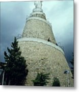 Our Lady Of Lebanon Statue In Harissa Metal Print