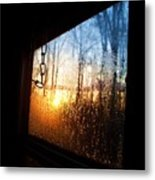 Out The Trailer Window Metal Print